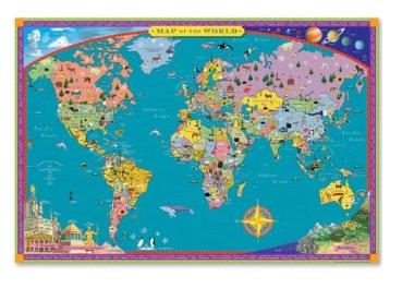 eeboo childrens world map
