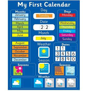 magnetic my first learning calendar