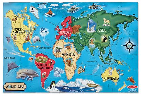melissa and doug world map-puzzle